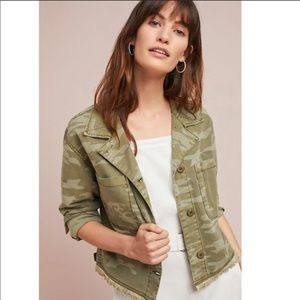 Anthropologie Camo Cropped Jacket